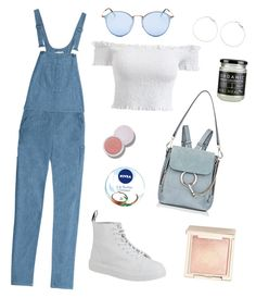 """""""Case of the blues"""" by marleigh-erin on Polyvore featuring rag & bone, Dr. Martens, Chloé, Ray-Ban, Jouer and Nivea"""