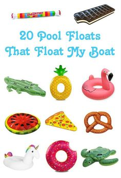 If you are looking for unique pool floats, I've pulled together a collection of some I guarantee you haven't see before. Get ready for summer fun!