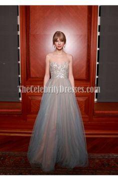 Celebrity Dresses Taylor Swift A-Line Prom Dress Formal Gown annual Nashville Symphony Ball Red Carpet - TheCelebrityDresses Taylor Swift 2011, Taylor Swift Moda, Style Taylor Swift, Swift 3, A Line Prom Dresses, Grad Dresses, Dresses 2016, Party Dresses, Evening Dresses