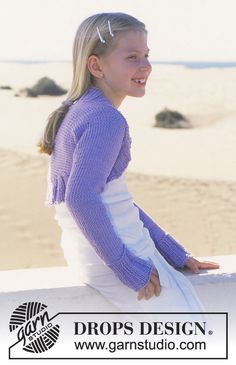 DROPS Shrug in Paris for Women and Girls Free pattern by DROPS Design.