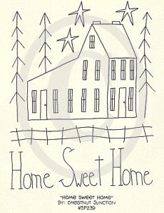 Home Sweet Home Embroidery ePattern – Chestnut Junction