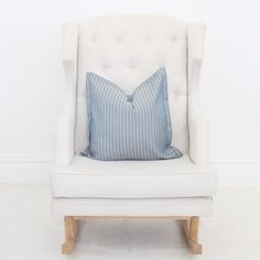 Let Denim Chambray Throw Pillow Cover