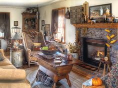The Heart of the Homestead: Treasured antiques are put to work in a shopowner's recently revamped rural Michigan retreat, where collections accompany classic fall fare that celebrates the season. (Photographed by Bill Mathews, styled by Gloria Gale)