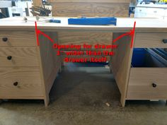 Install Full Extension Drawer Slides - Easy DIY - The Definitive Guide Building Drawers, Miter Saw Table, Truck Bed Camper, Dresser Drawers, Woodworking Shop, Fun Projects, Storage Chest, Easy Diy, Desk