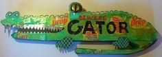 Sun Drop Florida Gator by CafeRoche on Etsy, $79.00