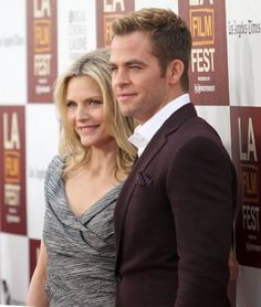 Michelle Pfeiffer and Chris Pine at event of People Like Us (2012)