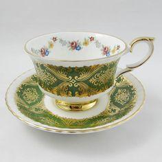 Paragon Green Tea Cup and Saucer Pembroke E