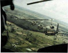11th CAB, Combat Aviation Battalion on a Combat Air Assault in Vietnam
