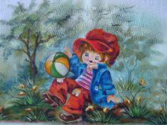 Pintura em Fralda Maricélia Montanari silva