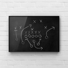 This listing is for one print of an old chalkboard with a football play on it. I have 2 more of these so make sure if youre customizing a set to list No. 1,2, or 3 or choose all 3 :) A perfect print for your little boys room or nursery! This would compliment any of my other sport prints Please Boys Room Decor, Boy Room, Football Bedroom, Professional Photo Lab, Decorate Your Room, All Print, My Images, Chalkboard, Photo Wall Art