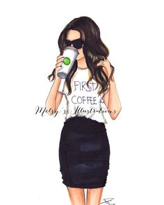 First Coffee by Melsys on Etsy https://www.etsy.com/listing/232975802/first-coffee