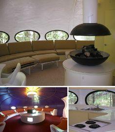 The Futuro House: Space Age Architecture Comes Home! Mid Century Decor, Mid Century House, Mid Century Design, Futuristic Interior, Futuristic Design, Dome House, Vintage Interiors, Googie, Retro Futurism