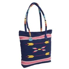 Handloomed Tote Blue now featured on Fab.