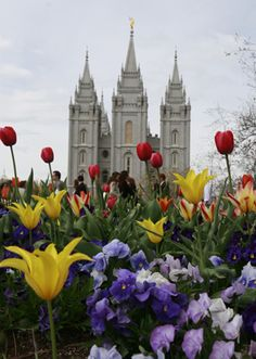 Spring at Temple Square in Salt Lake City.
