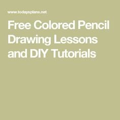 Color Pencil Drawing Tutorial Free Colored Pencil Drawing Lessons and DIY Tutorials Colored Pencil Lessons, Colored Pencil Artwork, Colored Pencil Tutorial, Colored Pencil Techniques, Pencil Painting, Coloured Pencils, Color Pencil Art, Watercolor Pencils, Thread Painting