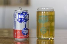 """American Lager - """"Brewed with American corn, barley, hops, water and a super clean American Lager yeast, this beer is the definition of easy drinking."""" Big Elm Brewing, Sheffield MA (12oz 5%) April 2016"""