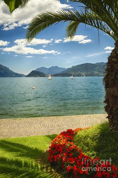 Lake Como View  Photograph by George Oze