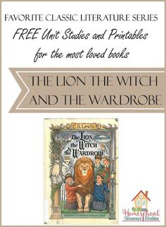 FREE Unit Studies and Printables for the most loved books: The Lion, the Witch and the Wardrobe - Free Homeschool Deals © Literature Books, Classic Literature, Classic Books, Book Study, Homeschool Curriculum, Homeschooling Resources, Book Activities, Phonics, Unit Studies