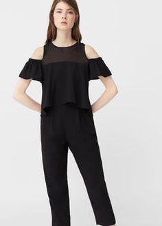 Off-shoulder jumpsuit