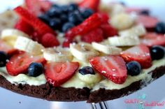 "Make a red white and blue fruit ""pizza""!"