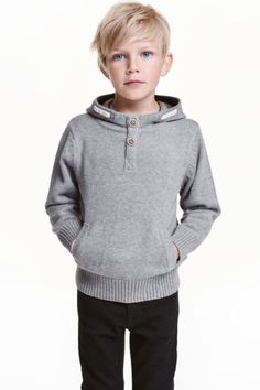 Hooded cotton jumper