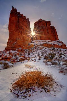 Winter In The Arches