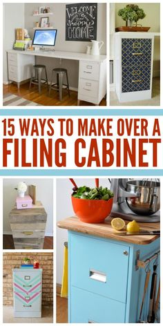 DIY projects are getting increasingly popular these days. It is fun doing your home improvement projects by yourself. It is fun and also gives you Painted File Cabinets, Diy Cabinets, Painting Metal Cabinets, Metal Filing Cabinets, Decorating File Cabinets, Office Cabinets, Kitchen Cabinets, Furniture Makeover, Diy Furniture