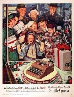 Vintage 1950's Smith-Corona ad.