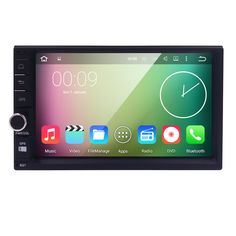 "Quad Core Pure Android 5.1 Car Multimedia Player Car PC Tablet Double 2din 7"" GPS Navigation Car Stereo Radio Bluetooth NO DVD"