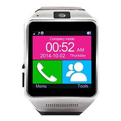 Sunsbell Prefect Gear GV08 Bluetooth Smart Watch Smartwatch Mobile Phone Watch for iOS and Android Smartphones (Black) * You can get additional details at the image link.
