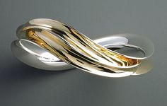 """Undulated Bangle,"" created by Nancy Linkin"