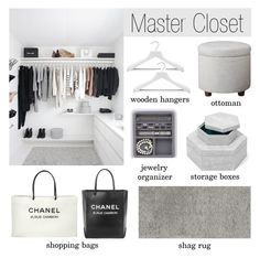 """""""Master Closet"""" by lgb321 ❤ liked on Polyvore featuring interior, interiors, interior design, home, home decor, interior decorating, Thom Filicia, Chanel and Threshold"""