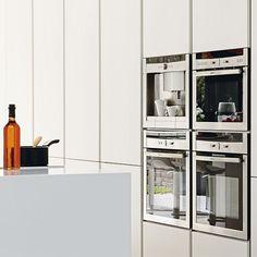 White handleless kitchen | Kitchen decorating | Beautiful Kitchens | Housetohome