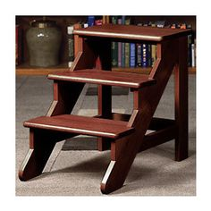 Library Steps   Step Stool, Wood Step Stool, Library Step Stool   Levenger