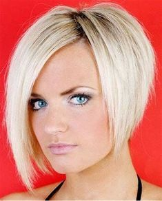 Amazing Hairstyles Bob Hairstyle Blonde Long Bob Hairstyles Blonde Frisure Style - Hairstyle Trending hairstyles bob hairstyle blonde to 2018 - Modern Bob hair cuts to have a favorites of innov. Bob Haircut For Round Face, Round Face Haircuts, Short Bob Haircuts, Short Stacked Haircuts, Stacked Bob Hairstyles, Blonde Bob Hairstyles, Blonde Hair, Short Blonde, Short Hair Cuts For Women