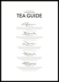 Five Tea Classics, posters in de groep Posters / Afmetingen / 30x40cm bij Desenio AB (8557)
