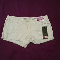NWT Mossimo Supply Co. Low-rise Jean Shorts Denim low rise shorts By Mossimo Supply Co. (Target).? Colors are one is white. Mossimo Supply Co Shorts Jean Shorts
