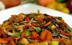 Comida China Chop Suey, Veggie Recipes, Healthy Recipes, Ladies Lunch, China Food, Chow Mein, Everyday Food, Kung Pao Chicken, Food And Drink