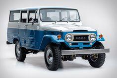 1967 Toyota Land Cruiser Capri Blue: The Dignity of a Legend Toyota Land Cruiser, Toyota Lc, Toyota Trucks, Toyota Fj40, Station Wagon, Pick Up, Carros Toyota, Volkswagen, Capri Blue