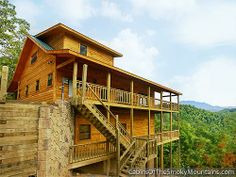 "lots of views from ""wild turkey"" - 6 bedroom cabin in gatlinburg"