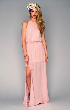 Heather Halter Dress ~ Frosty Pink Crisp ~ Show Me Your Mumu
