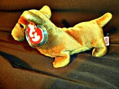 """MWNMT TY BEANIE BABY """"WEENIE"""" THE DACHSHUND! 3 GEN. HANG TAG! 2ND GEN. TUSH TAG! #Ty"""