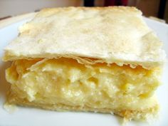 Mille-feuille is known as krémes in Hungary; it's made up of two thin layers of puff pastry and one layer of vanilla pastry cream.