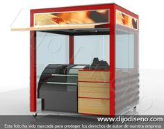 Puntos de venta - dijo diseño Kiosk Design, Cafe Design, Chocolate Stores, Coffee Store, Food Stands, Cafe Bar, Barista, Food Truck, Ducati