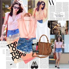 Selena Gomez by rainie-minnie on Polyvore featuring Mode, MTWTFSS Collection, Repetto, Deena & Ozzy, Yves Saint Laurent and American Apparel