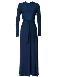 Navy Wrap Dress from Beautiful One Modest