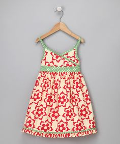 These colors are great together. Cute little girls dress