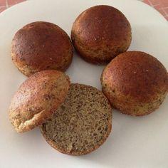 120 ml de água morna (não pode ser quente!! deve estar tolerável ao toque) 5 g ou 2 colheres (chá) de fermento biológico seco 1 colher (chá) de açúcar demerara 2 ovos grandes ou 3 ovos pequenos 1 colher (sopa) de óleo vegetal 1/2 xícara (chá) de farinha de linhaça (usei a escura) 1/2 xícara (chá) de farinha de grão-de-bico 1/4 xícara (chá) de polvilho doce 2 colheres (sopa) de Psyllium (não tem substituto) 1 colher (café) de sal