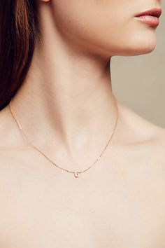 Diamond Mini Horseshoe Necklace - #anthrofave