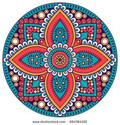 Find Flower Mandala Vintage Decorative Elements Oriental stock images in HD and millions of other royalty-free stock photos, illustrations and vectors in the Shutterstock collection. Mandala Art, Mandala Design, Mandalas Painting, Mandalas Drawing, Mandala Coloring Pages, Coloring Book Pages, Dot Painting, Ceramic Painting, Mandala Oriental